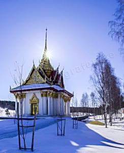 Thailändska paviljongen vintertid