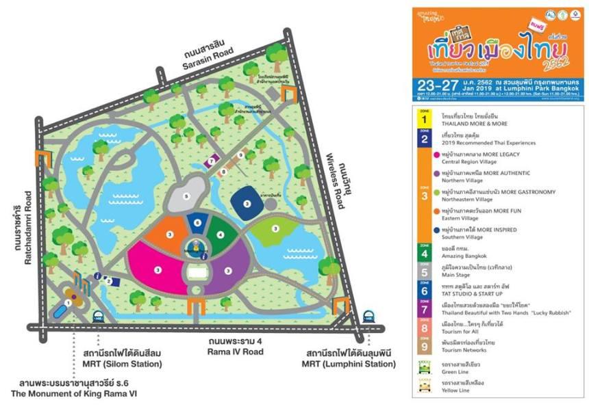 thailandtourismfestival2019map